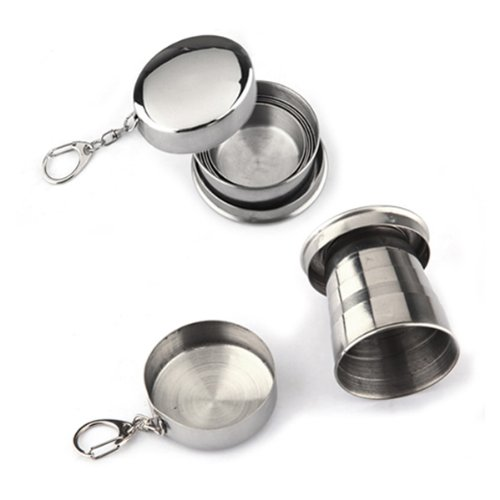 Stainless Steel Travel Folding Cup Telescopic Mini Picnic.