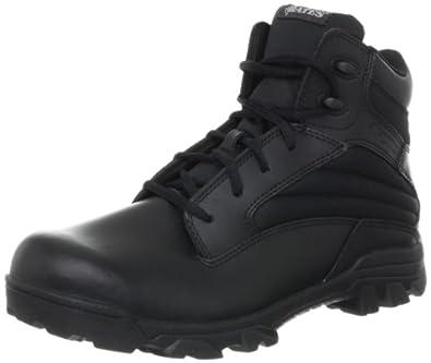 Bates Men's ZR-6 BLK 6 Inch Leather Nylon Uniform Boot, Black, 7 M US