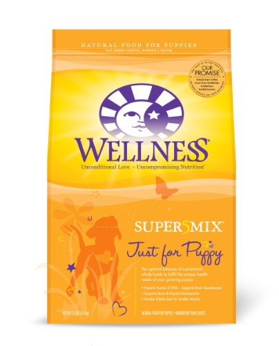 Wellness Super5Mix Dry Dog Food, Just for Puppy Recipe, 15-Pound Bag