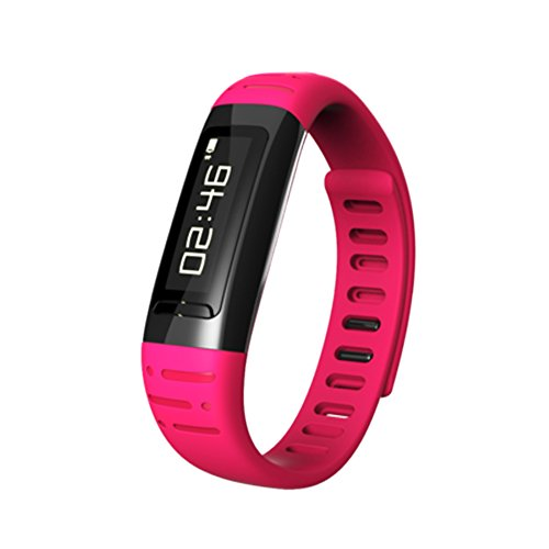 Ciyoyo Usee Smart Watch Bluetooth Bracelet Waterproof Wristband With Calorie Counter Pedometer Wifi Hotspots For Ios Iphone Android Samsung Sony Htc Color Hot Pink