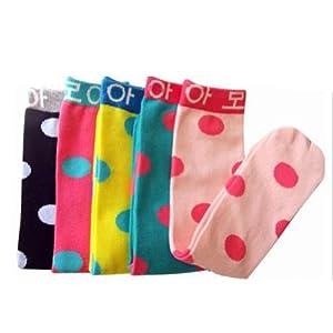 kids toddlers girls soft knee high school socks 2 8y polka dot tights leggings