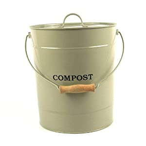 extra large metal kitchen compost caddy clay colour. Black Bedroom Furniture Sets. Home Design Ideas