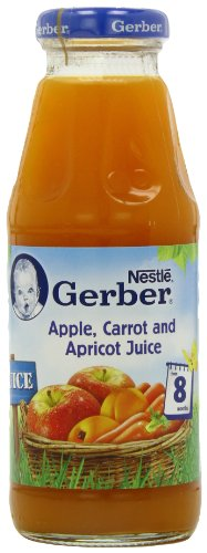 Gerber Apple, Carrot and Apricot Juice 300 ml (Pack of 12)