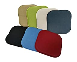 Memory Foam Chair Pad- 16x16- Multiple Colors- Black