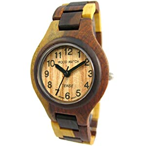 Tense Mens Multi Colored Round Sandalwood Watch G7509ID