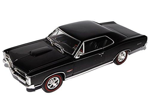 pontiac-gto-coupe-schwarz-1966-1-18-welly-modell-auto-mit-individiuellem-wunschkennzeichen