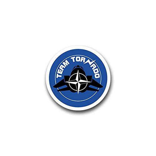 Aufkleber / Sticker - Team Tornado Bundeswehr Jagdbomber Aufklärungs Geschwader Deutschland Militär Wappen Abzeichen Emblem passend für VW Golf Polo GTI BMW 3er Mercedes Audi Opel Ford (7x7cm)#A1605