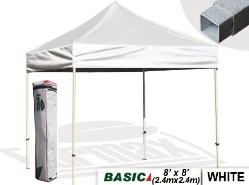 Eurmax Pop Up 8 X 8 Canopy Instant Outdoor Gazebo Tent With Carry Bag, White front-971662