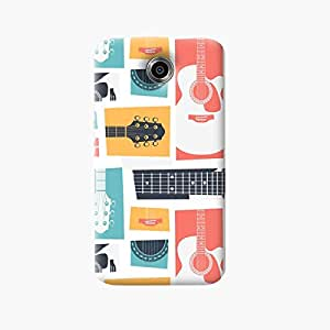 Guitar Collage Back Case Cover For Nexus 6