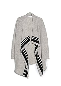 Mango Women's Premium - Waterfall Wool-Blend Cardigan, Light Grey, S