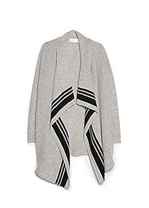 Mango Women's Premium - Waterfall Wool-Blend Cardigan, Light Grey, S