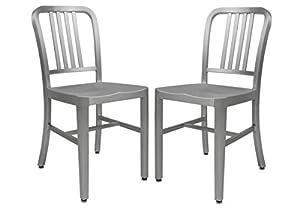 Amazon Com Leisuremod Modern Delmar Dining Chair Set Of