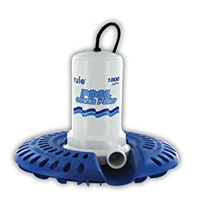 Rule H53SP-24 Marine Rule 1800 Pool Cover Pump with 24-Foot Cord/Wide Base (110-Volt)