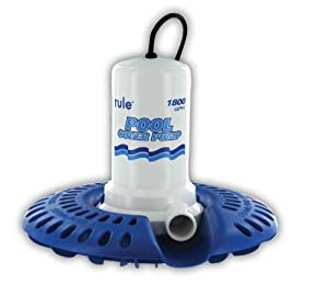 Rule H53SP-24 Marine Rule 1800 Pool Cover Pump with 24-Foot Cord Wide Base (110-Volt,... by Rule