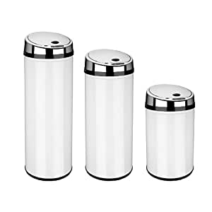 Dihl Stainless Steel Automatic Sensor Bin, 42L White