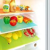 #9: Kuber Industries™ Refrigerator Drawer Mat / Fridge Mat Set Of 6 Pcs Multi Color (Material- Plastic)