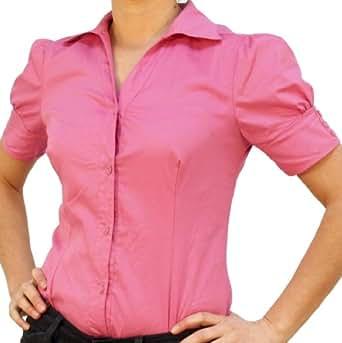 C&H Bodybluse, Blusenbody, kurzarm, pink, Gr. 42/XL!