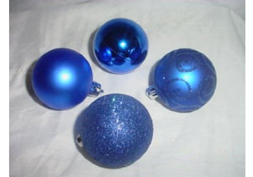 Pack of 10 60mm Royal Blue Baubles