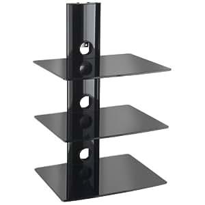 Designer Habitat : Magnifique Support de couleur noir idéalement conçu pour supporter les lecteurs DVD / Blu-Ray, Console de jeu PS3 Xbox 360,décodeur