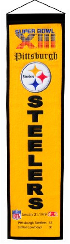 NFL Pittsburgh Steelers Super Bowl XIII Banner at SteelerMania