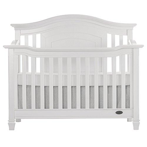 Evolur Fairbanks 5-in-1 Convertible Crib, Winter White