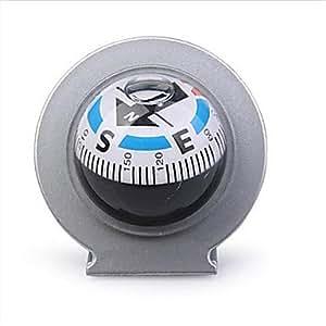 Mini bussola a sfera per auto con supporto silver amazon for Bussola amazon