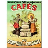 FRENCH VINTAGE MAGNET 6x8cm RETRO AD COLONY COFFEE - M650