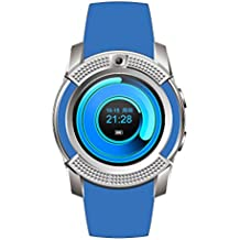 Nokia 808 PureView Compatible Bluetooth Smartwatch With Sim & Tf Card Support With Apps Like Facebook And Whatsapp Touch Screen Multilanguage Android/Ios Mobile Phone Wrist Watch Phone With Activity Trackers And Fitness Band Supported Devices -BY MOBIMINT