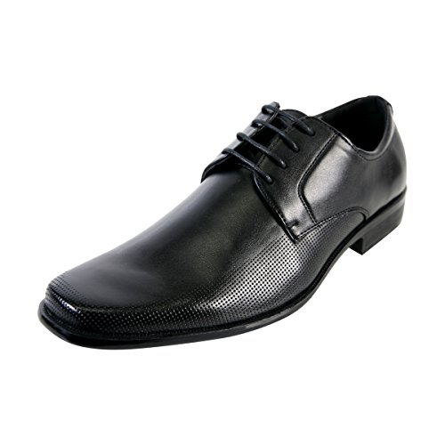Alberto-Fellini-Mens-Lace-Up-Perforated-Dressy-Shoes-Black