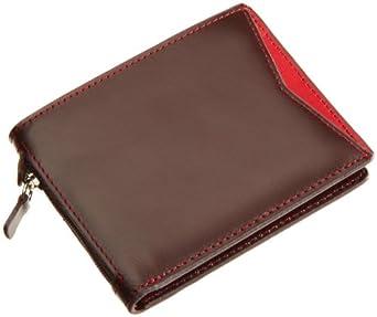 Cheddar Pocket Mens Alan Travel Wallet, Brown/Red, One Size