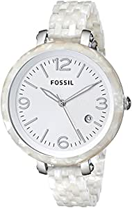 Fossil Heather Three Hand Resin Watch - Pearlized White Jr1407