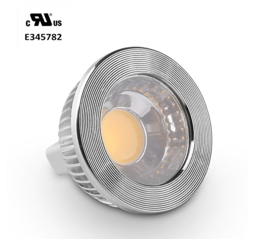 Golden Sun Ul-Listed 5 Watt Mr16 Gu5.3 Bi Pin Led Cob Flood Bulb, 50W Equivalent, Ac/Dc 12V, 90 Degree, Dimmable With Led Compatible Dimmer And Transformer, Recessed Lighting, Track Lighting, 6000K Cool White