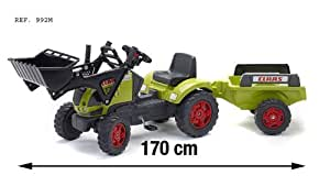 Falk Claas Ares / PM 992M Child's Pedal Tractor with Front Loader and Trailer