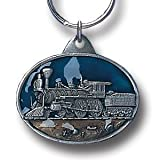 Pewter Key Ring - Steam Engine - Pewter Key Ring - Steam Engine