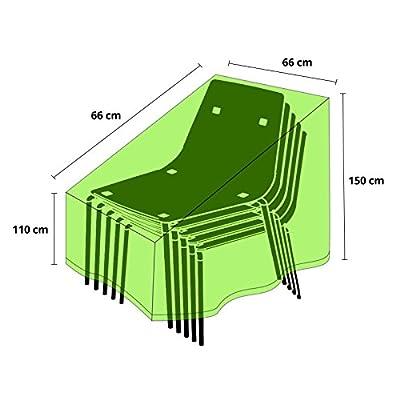 Schutzhülle für Gartenstühle (Stapelstühle)   schnelltrocknend   66x66x110/150cm von casa pura - Gartenmöbel von Du und Dein Garten