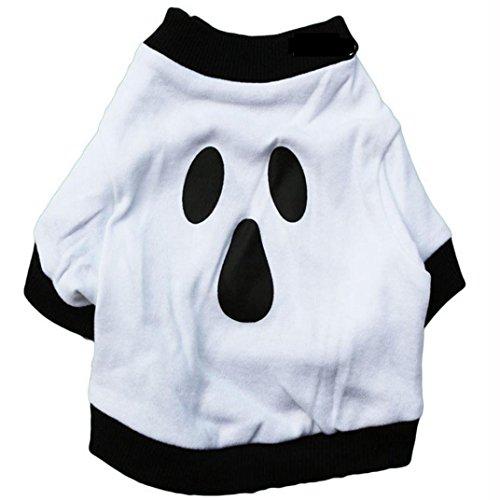 Camicia Piccolo Cane, Dog Shirt, Ouneed® Shirt Pet Ghost Dog Natale vestiti di cotone bianco Halloween (M)