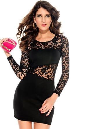 Sexy elegant Kleid Spitzekleid Damenkleid Partykleid Abendkleid Cocktailkleid Clubwear Dress