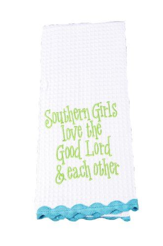Young's Southern Girls Love Tea Towel, 28-Inch