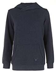 Cotton Rich Hooded Sweat Top