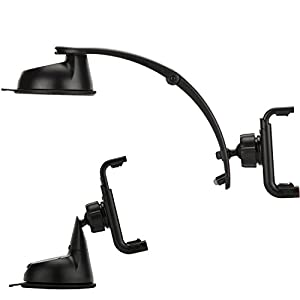 OSO U Grip EX 2-in-1 Universal Extending Suction Mount Mobile Phone & GPS Holder ? Black ? Car, Home or Office use. Extra Strong Patented Suction Cup - 2 Year Warranty. Grips any device up to 5? including all generations of iPhone, IPod, Samsung, HTC, Blackberry, Sony Ericsson,