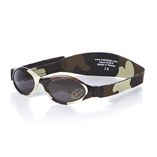 Baby Banz Camo Brown Adventure 0-2 years Wrap Sunglasses Size Baby