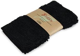 Shaggie Chenille DishWashcloth 10-Inch-by-10-Inch Black