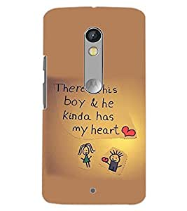 PrintDhaba QUOTE D-6312 Back Case Cover for MOTOROLA MOTO X PLAY (Multi-Coloured)