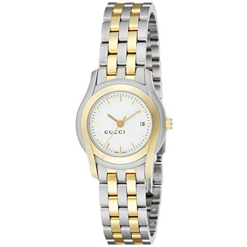 [グッチ]GUCCI 腕時計 5500 シルバー文字盤 ステンレス(YGPVD) デイト YA055528 レディース 【並行輸入品】