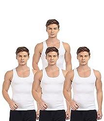 BLIVE Men's Premium Cotton Vest (4, Small)
