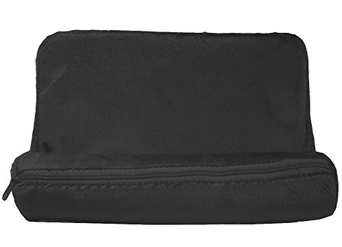 Plush Tablet Wedge Pillow Angled Cushion Lap Stand (Black) (Lap Tablet Stand compare prices)