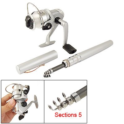 Como Pocket Pen Fishing Rod + 4.3:1 Spinning Reel Tackle Set
