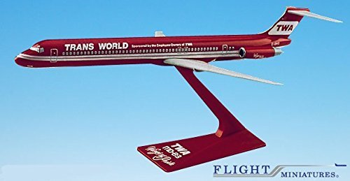 twa-wings-of-pride-md-80-airplane-miniature-model-plastic-snap-fit-1200-part-amd-08000h-005-by-fligh
