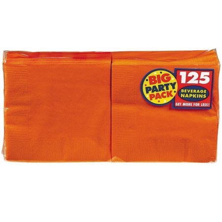 Orange Peel Beverage Napkins