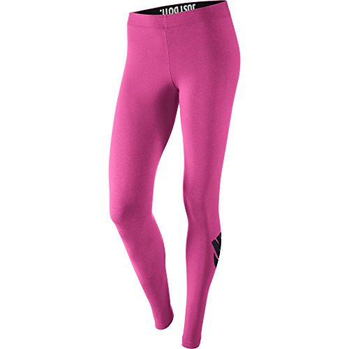 Nike Leg-A-See Logo Women's Leggings Hot Pink/Black 615049-612 (Size L)